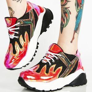 🔥 BLAZE flame platform sneaker women 7.5 🔥